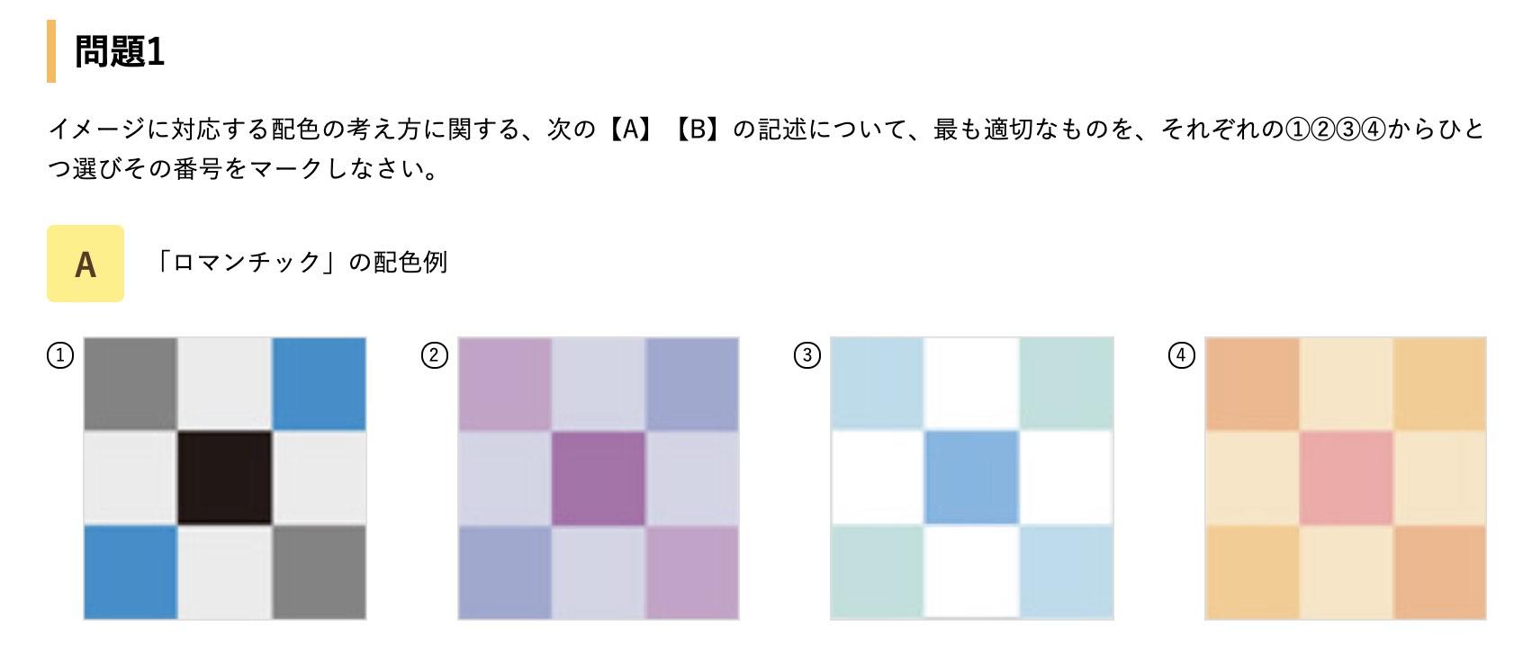 色彩検定1級の問題